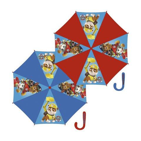 Paraguas de La Patrulla Canina Rojo y Azul