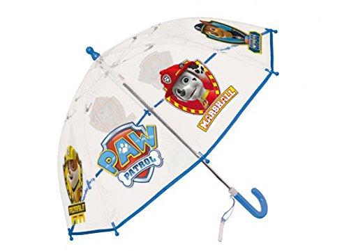 Paraguas Patrulla Canina transparente azul