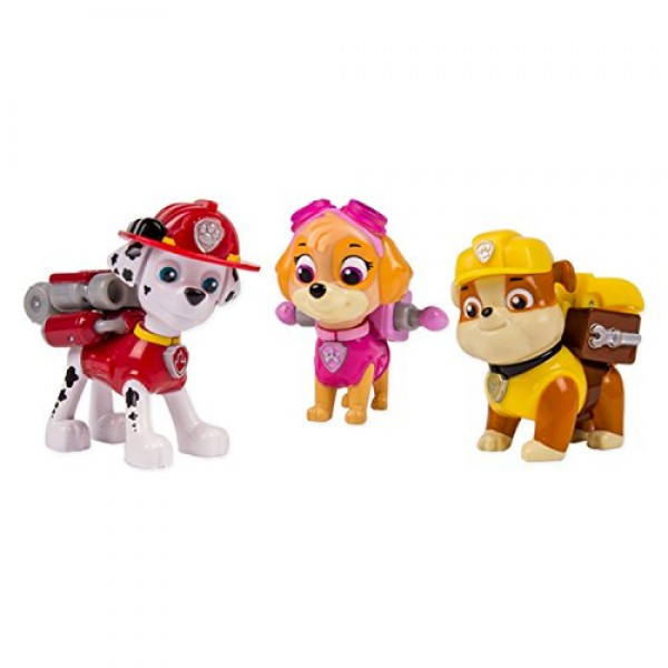 Set 3 muñecos Marshall, Rubble y Skye