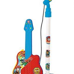 Micrófono de pie con guitarra Patrulla Canina