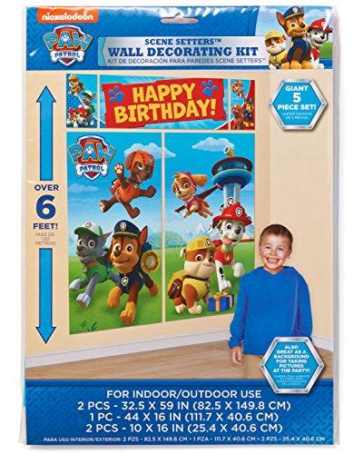Set de posters de cumpleaños Patrulla Canina1