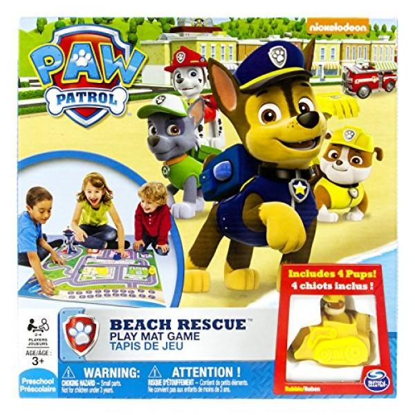 Juego del juego de mesa Rescate en la Playa Patrulla canina