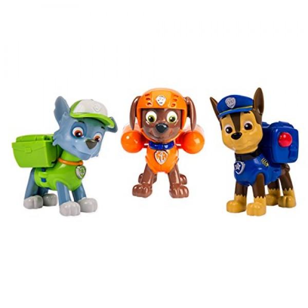 Set 3 muñecos Chase, Rocky y Zuma