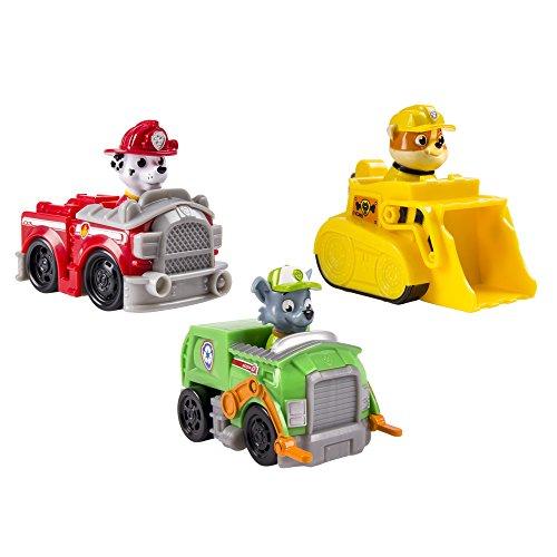 Set 3 Vehículos Rubble, Marshall y Rockye