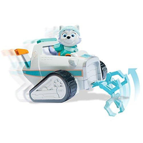Everest y su coche de nieve Patrulla Canina